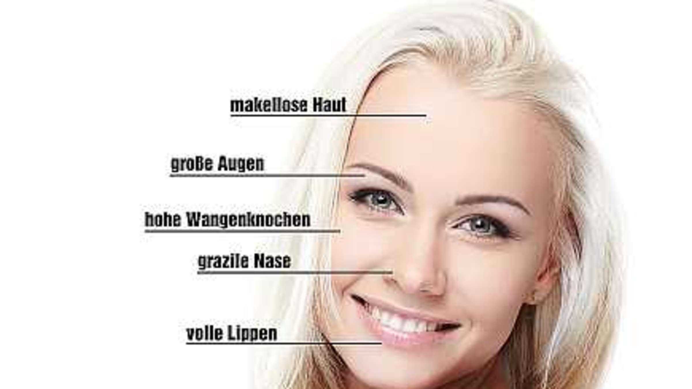Attraktivität: Fünf Punkte im Gesicht bestimmen unsere Schönheit