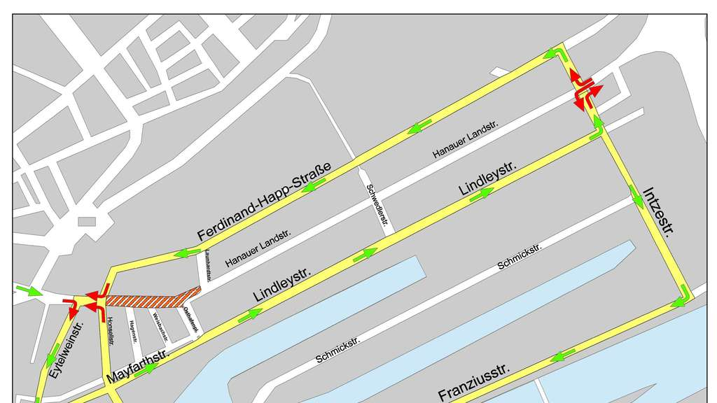 Hanauer Landstraße Zwei Wochen Lang Dicht Frankfurt