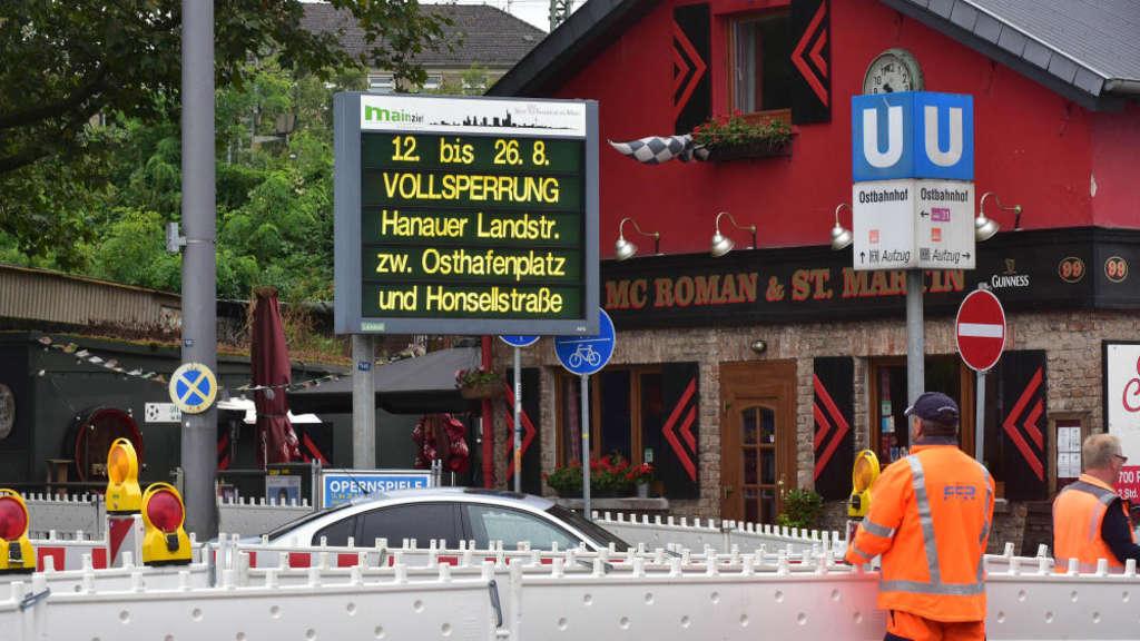 Wenig Staus Am Ersten Tag Der Sperrung Frankfurt