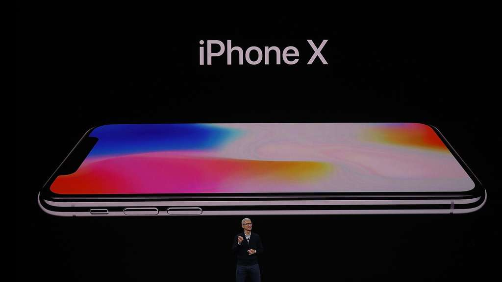 CUPERTINO, CA - SEPTEMBER 12: Apple CEO Tim Cook announces the new iPhone X during an Apple special event at the Steve Jobs Theatre on the Apple Park campus on September 12, 2017 in Cupertino, California. Apple is holding their first special event at the new Apple Park campus where they are expected to unveil a new iPhone. Justin Sullivan/Getty Images/AFP == FOR NEWSPAPERS, INTERNET, TELCOS & TELEVISION USE ONLY ==