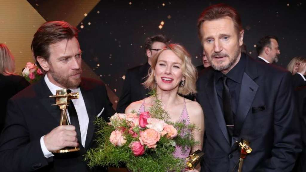 Star-Power in Hamburg: Ewan McGregor (l), Naomi Watts und Liam Neeson.