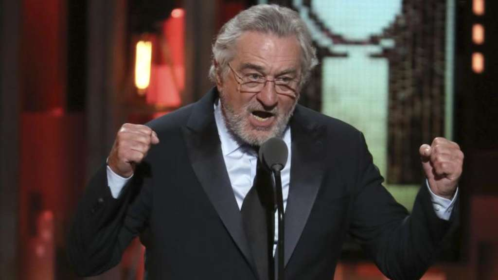 In Kampfeslaune: Robert De Niro bei der Verleihung der Tony Awards in der Radio City Music Hall.