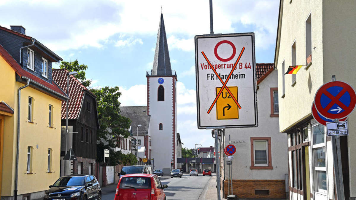 Straßensperrung Hessen
