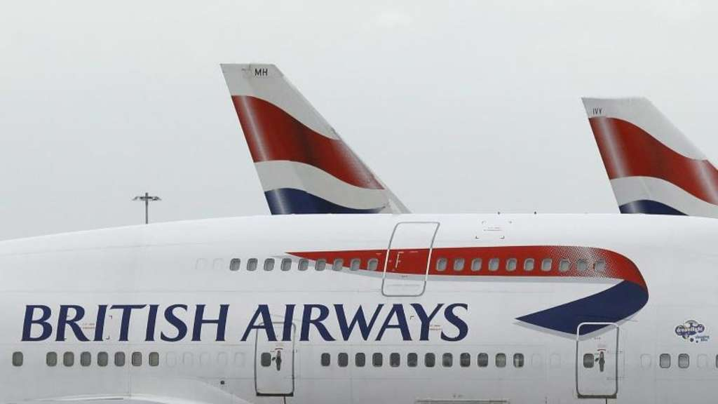 Eine British Airways Maschine im Londoner Flughafen Heathrow.