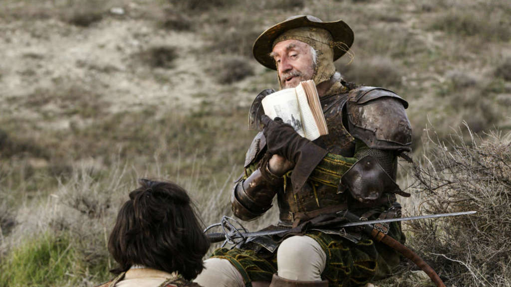 Jonathan Pryce (r.) als Don Quixote und Adam Driver als Toby in einer Szene des Films ?The Man Who Killed Don Quixote?.