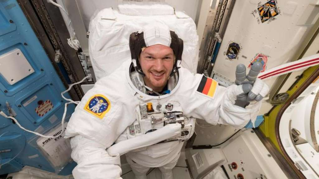 Alexander Gerst auf der Internationalen Raumstation ISS.