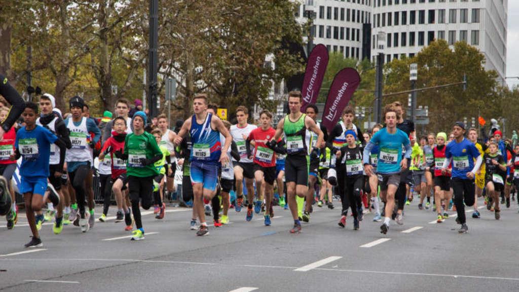 Hunderttausende Kamen Zum Frankfurt Marathon Frankfurt