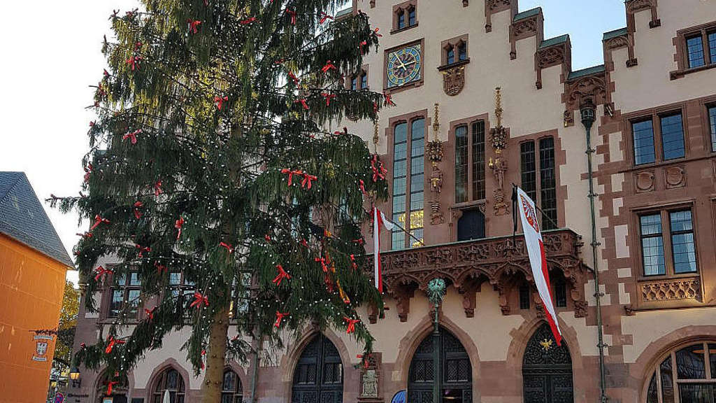 Weihnachtsbaum Frankfurt.Weihnachtsbaum Wettkampf Wer Hat Den Schönsten Frankfurt