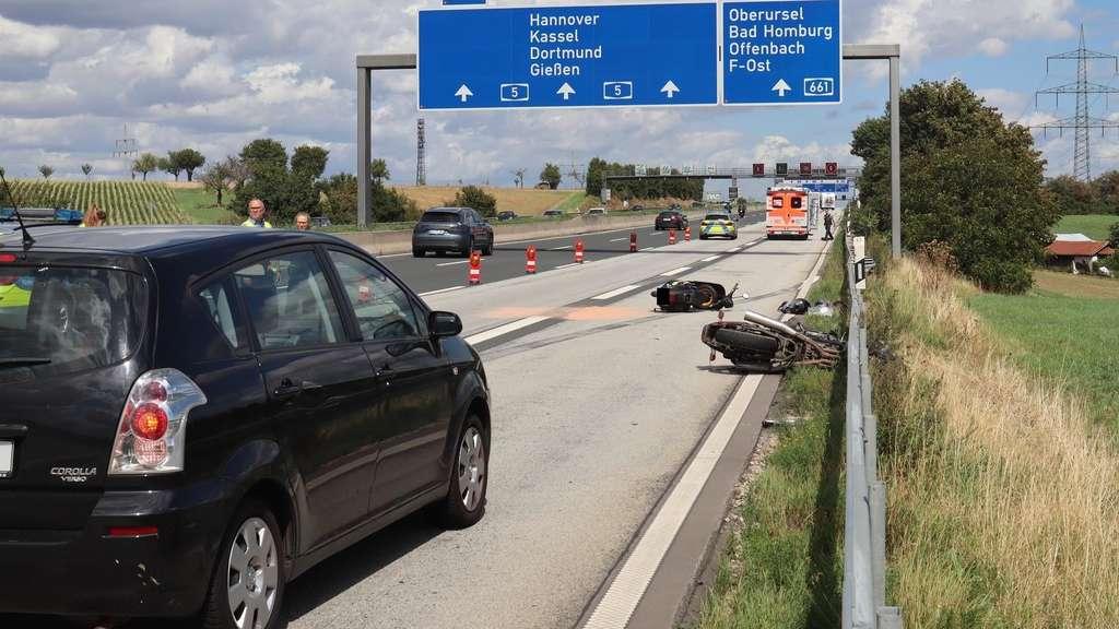 Autobahn A5 Unfall